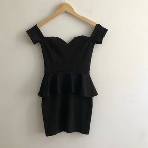 Nasty Gal Ruffle black dress